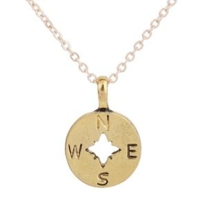 Jewelry - Dainty Gold Compass Necklace